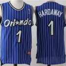 Men's Penny Hardaway Jersey #1 Orlando Magic Blue Classics Stripe Jersey