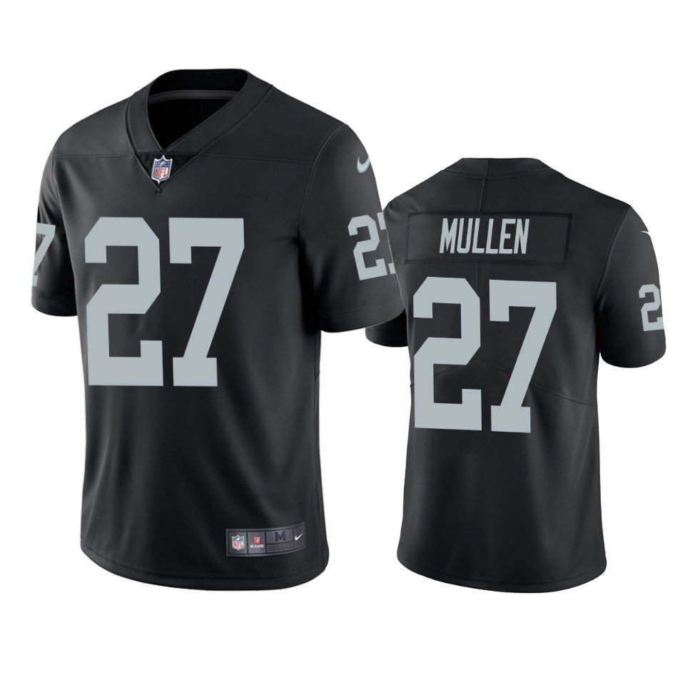 54b7d094 Men's Oakland Raiders #27 Trayvon Mullen Black Color Rush Limited Jersey