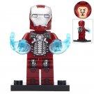 Minifigure Iron Man Mark 5 Costume Marvel Super Heroes Compatible Lego Building Block Toys