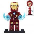 Minifigure Iron Man Mark 8 Costume Marvel Super Heroes Compatible Lego Building Block Toys