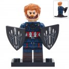 Minifigure Captain America Marvel Super Heroes Compatible Lego Building Block Toys