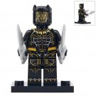 Minifigure Erik Killmonger Black Panther Marvel Super Heroes Compatible Lego Building Block Toys