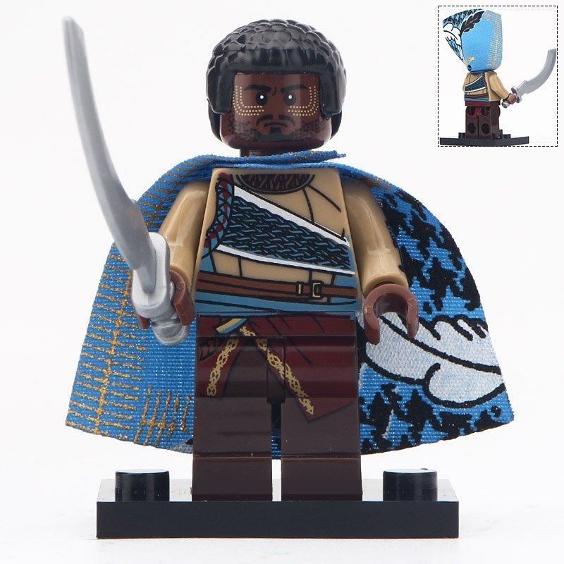 Minifigure W`Kabi Black Panther Marvel Super Heroes Compatible Lego Building Block Toys