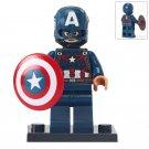 Minifigure Captain America Marvel Super Heroes Compatible Lego Building Block Toys
