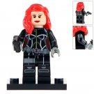 Minifigure Black Widow Marvel Super Heroes Compatible Lego Building Block Toys