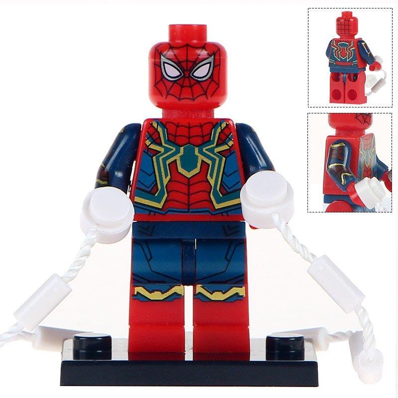 Minifigure Spider-man Avengers Infinity War Marvel Super Heroes Compatible Lego Building Block Toys