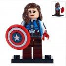 Minifigure Female Captain America Marvel Super Heroes Compatible Lego Building Block Toys