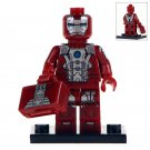 Minifigure Red Iron Man Marvel Super Heroes Compatible Lego Building Block Toys