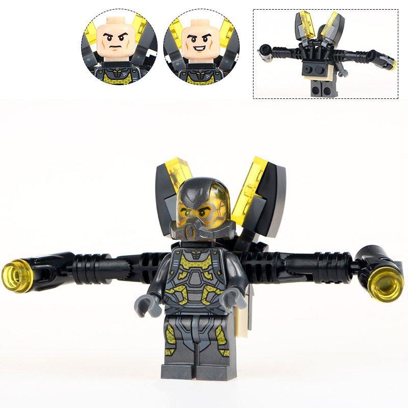 Minifigure Yellow Jacket Marvel Super Heroes Compatible Lego Building Block Toys