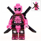 Minifigure Pink Deadpool Marvel Super Heroes Compatible Lego Building Block Toys