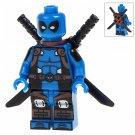 Minifigure Blue Deadpool Marvel Super Heroes Compatible Lego Building Block Toys