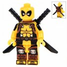 Minifigure Yellow Deadpool Marvel Super Heroes Compatible Lego Building Block Toys