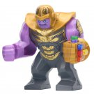 Big Minifigure Thanos Yellow Arm Marvel Super Heroes Compatible Lego Building Block Toys