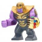 Big Minifigure Thanos Gold Arm Marvel Super Heroes Compatible Lego Building Block Toys