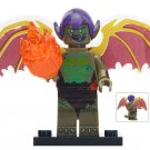 Minifigure Green Goblin with Fire Marvel Super Heroes Compatible Lego Building Block Toys