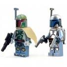 2pcs Set Minifigure Boba Fett and Jango Fett Star Wars Compatible Lego Building Block Toys