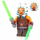 Minifigure Ahsoka Tano Star Wars Compatible Lego Building Block Toys