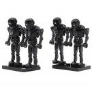 4pcs set Minifigure Black Battle Droids Star Wars Compatible Lego Building Block Toys
