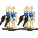 4pcs set Minifigure Blue Battle Droids Star Wars Compatible Lego Building Block Toys