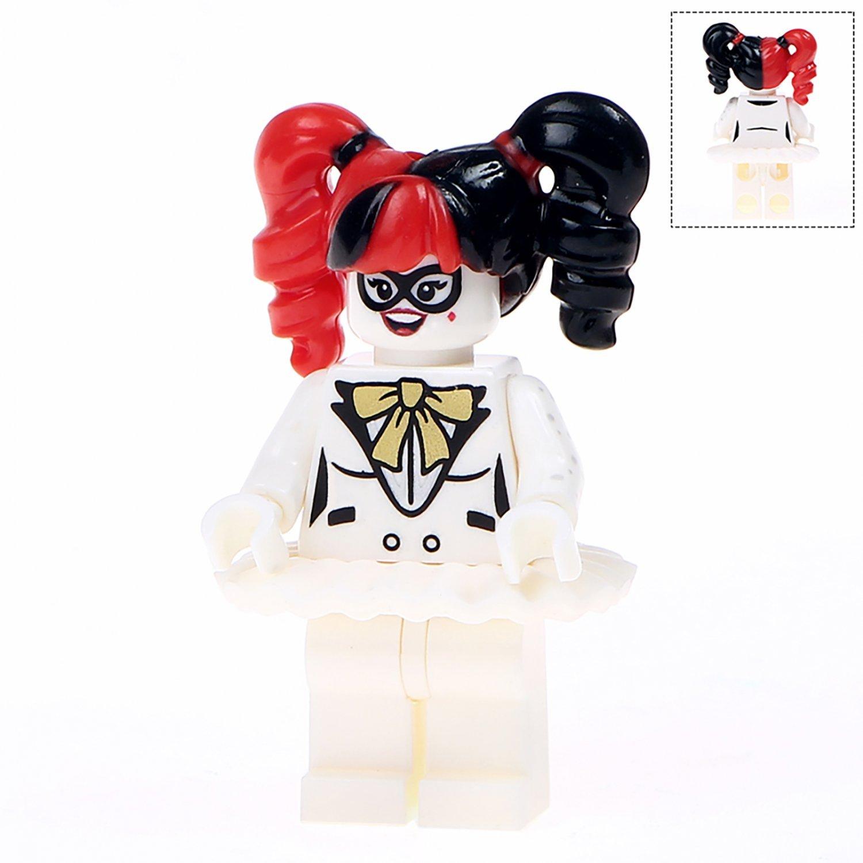 Minifigure White Harley Quinn Suicide Squad DC Comics Super Heroes Compatible Lego Building Block