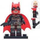 Minifigure Batman in a Red Helmet DC Comics Super Heroes Compatible Lego Building Blocks Toys
