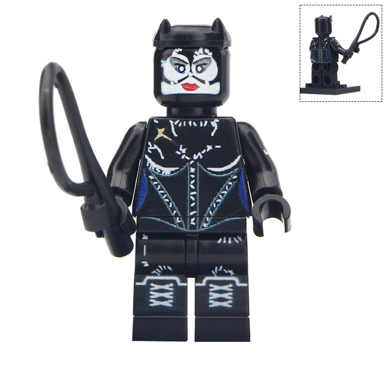 Minifigure Catwoman DC Comics Super Heroes Compatible Lego Building Blocks Toys