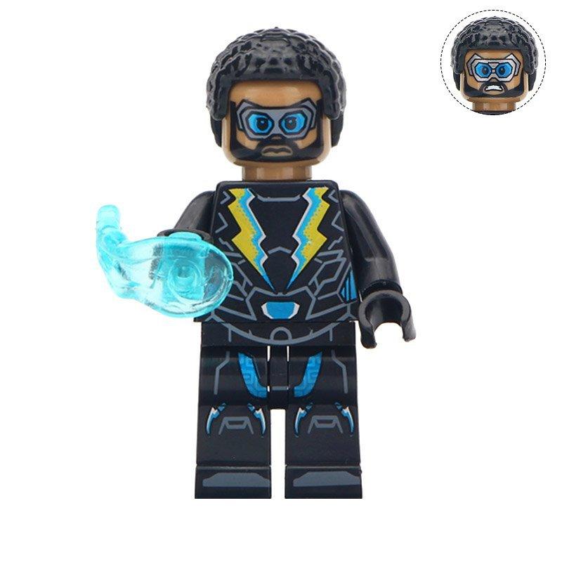 Minifigure Black Lightning DC Comics Super Heroes Compatible Lego Building Blocks Toys