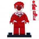 Minifigure Red Electric Superman DC Comics Super Heroes Compatible Lego Building Blocks Toys