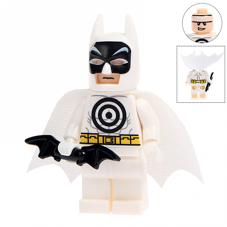 Minifigure White Batman DC Comics Super Heroes Compatible Lego Building Blocks Toys