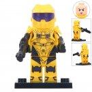 Minifigure Yellow Halo Warrior Compatible Lego Building Blocks Toys