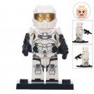 Minifigure White Halo Warrior Compatible Lego Building Blocks Toys