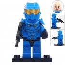 Minifigure Blue Halo Warrior Compatible Lego Building Blocks Toys