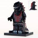 Minifigure Godzilla Black Color Compatible Lego Building Blocks Toys