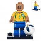 Minifigure Ronaldo Brazilian Football Compatible Lego Building Blocks Toys