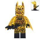 Minifigure Batman in the Leopard Costume DC Comics Super Heroes Compatible Lego Building Blocks Toys