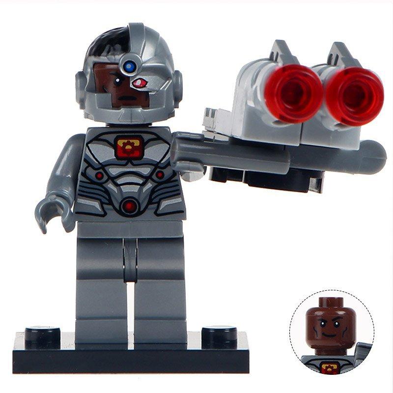 Minifigure Cyborg DC Comics Super Heroes Compatible Lego Building Blocks Toys