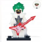 Minifigure Joker with Red Guitar DC Comics Super Heroes Compatible Lego Building Block Toys