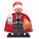 Minifigure Thor Santa Christmas Marvel Super Heroes Compatible Lego Building Block Toys