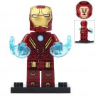 Minifigure Iron Man Mark 8 Costume Marvel Super Heroes Compatible Lego Building Block Toys