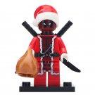 Minifigure Deadpool Santa Christmas Marvel Super Heroes Compatible Lego Building Block Toys