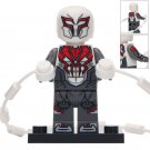 Minifigure White Spider-man 2099 Marvel Super Heroes Compatible Lego Building Block Toys