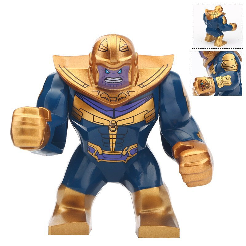 Minifigure Gold Thanos Marvel Super Heroes Compatible Lego Building Block Toys