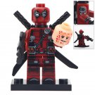 Minifigure Deadpool 2 Heads Marvel Super Heroes Compatible Lego Building Block Toys