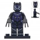 Minifigure Black Panther Violet Marvel Super Heroes Compatible Lego Building Block Toys