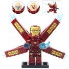 Minifigure Iron Man Marvel Super Heroes Compatible Lego Building Block Toys