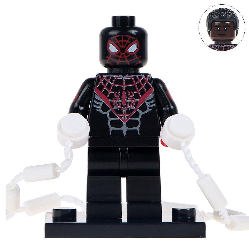Minifigure Black Ultimate Spider-man Marvel Super Heroes Compatible Lego Building Block Toys