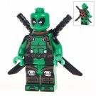 Minifigure Green Deadpool Marvel Super Heroes Compatible Lego Building Block Toys
