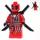 Minifigure Deadpool in a Bathrobe Marvel Super Heroes Compatible Lego Building Block Toys