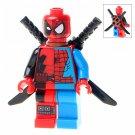 Minifigure Deadpool Spider-man 50/50 Marvel Super Heroes Compatible Lego Building Block Toys