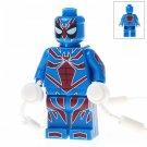Minifigure Lightblue Spider-man Marvel Super Heroes Compatible Lego Building Block Toys
